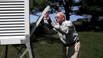 101-Year-Old Weather Observer Still at Work