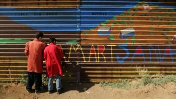 Kids Turn U.S.-Mexico Border Wall Into an Art Project