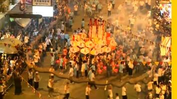 See Hong Kong's Dazzling Fire Dragon Dance