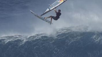 Watch a Pro Windsurfer Beast Big Waves