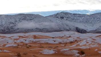 Rare Snow In the World's Hottest Desert